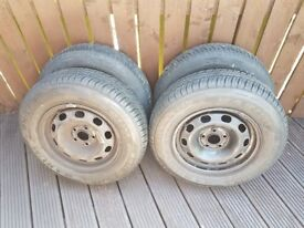 4 x Wheels and tyres for sale