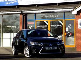 LEXUS CT 1.8 200H LUXURY 5dr AUTO * Leather & Sat Nav * ** (black) 2014