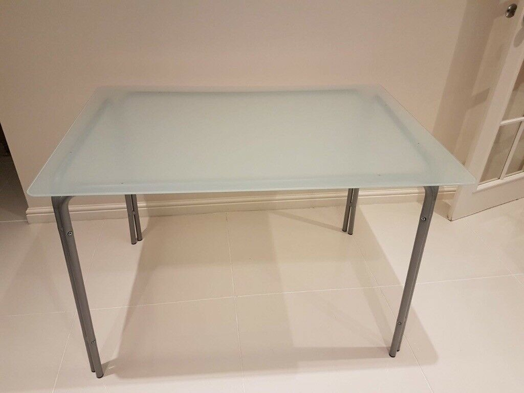 IKEA Dining table glass top and 4 chairs | in Newcastle ...