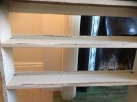Bookcase Shelves Display Shabby chic Vintage Oak