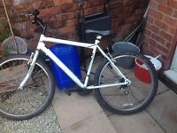 Cheap mountain bike 18 inch frame 18 gears 26 inch frame new seat new tyres new gears