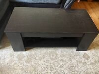 Brown wood Coffee Table with Storage