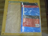 15 x A4 Bubble Wrap Bags & 5pk of 5 x A4 Project Covers (Blue, Red and Black).