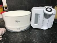 Tommy tippee white steriliser and tommy tippee perfect prep machine both in white.