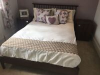 Double Bed with Mattress and 2 bed side tables