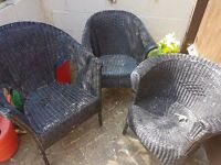 Lloyd loom style chairs x3 restoration project