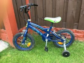 """Boys 14"""" bike benten with stabilisers can deliver for a small charge"""
