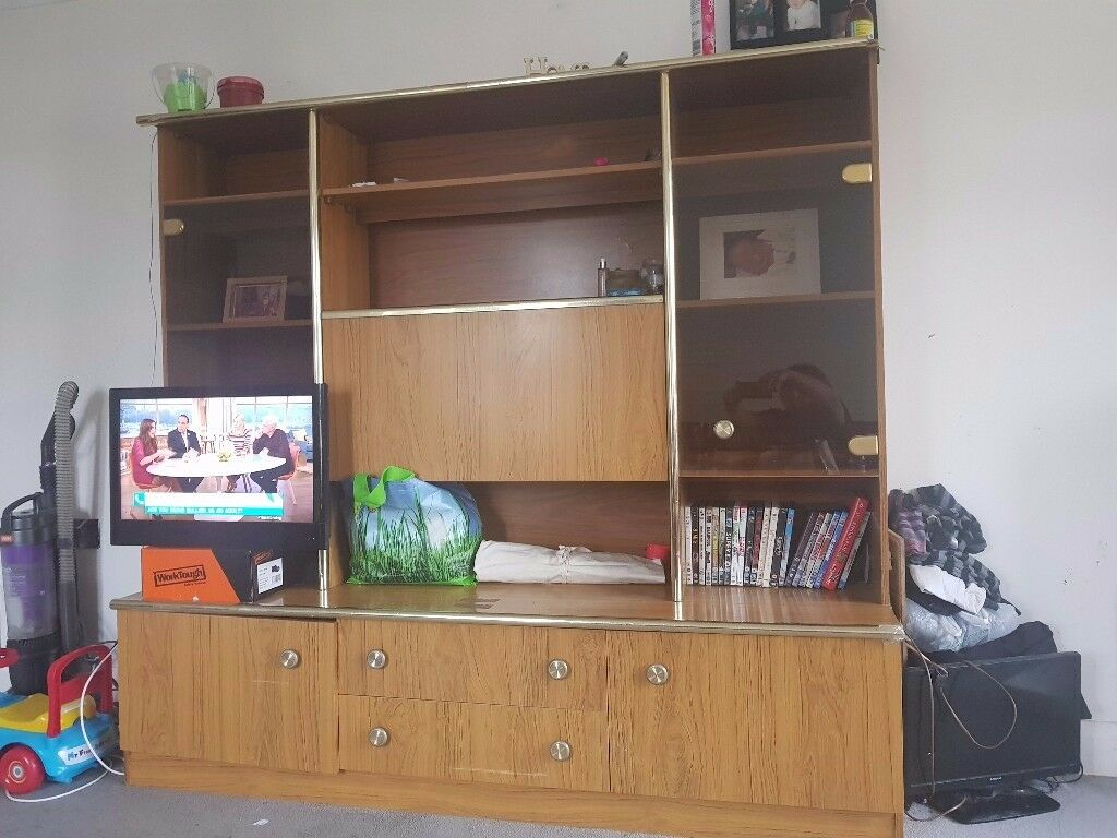 Entertainment unit with lights. Very heavy.