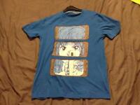 Genuine Cyberdog London shirt. Blue Manga design