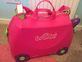 Pink Ride on Trunki Suitcase - excellent condition