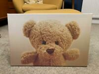 Large Teddy Bear Canvas Picture