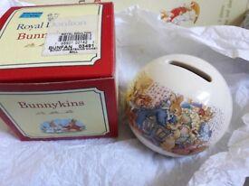 Bunnykins Royal Doulton christening money box