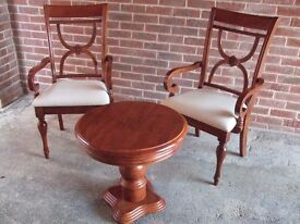 2 x Beautiful Antique style Chairs & Table.