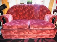 Small velvety couch