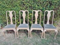 4 x Queen Anne Style Chairs