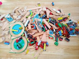 wooden trains and track (Brio and other compatible makes)