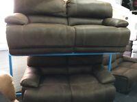 New / Ex Display LazyBoy Dark Brown Recliners 3 + 2 Seaters