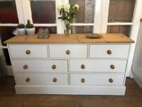 Sideboard/chest of 7 drawers Free Delivery Ldn shabby chic