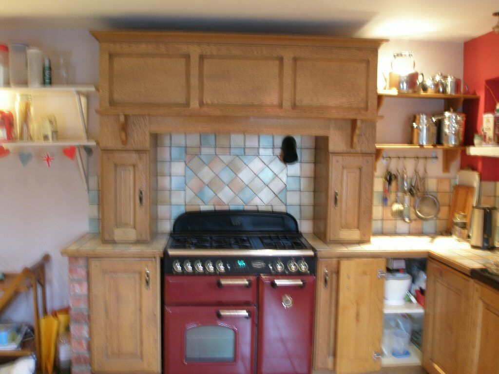 range cooker surround over mantle and extractor | in ...