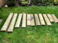 Sleeper Job Lot (treated softwood) with Screws & Drill Bit