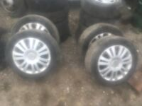 citroen alloy wheels x5 all with maching tyres £110