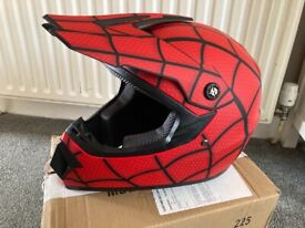 Kids Full Face Spiderman Helmet 52-53cm