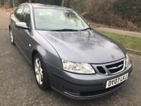 SAAB 9-3 1.9 TDI VECTOR SPORT 07 REG IN GREY WITH HALF LEATHER,SERVICE HISTORY AND MOT MARCH 2019