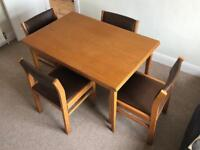 Dining Table & Chairs, free for collection. Belfast.