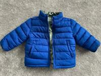 Gap boys padded reversible jacket/coat 12-18 months