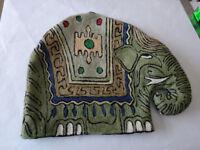 NEW Tea Cosy Elephant Embroidery - retro boho chic kitsch