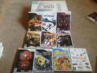 Nintendo wii 10 games and fit board