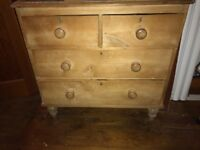 Antique pine, 4 drawer,