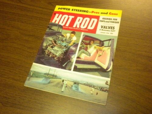 HOT ROD magazine 1956 August