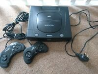 Sega Saturn Console with 2 Controllers