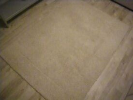 1005 INDIAN WOOL RUG. 170 CMS x 120 CMS. NATURAL OATMEAL COLOUR. VERY GOOD CONDITION.