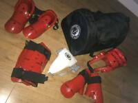 Taekwondo sparring kit and bag
