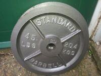Cap USA Olympic Cast Iron Plates 2 x 20kg