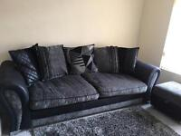 DFS Sofa Footstool and Armchair