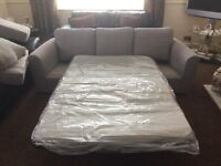 New 3 piece suite with full metal bed in the sofa