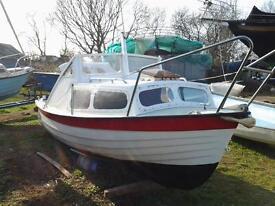 shetland angling boat aprox 16 ft