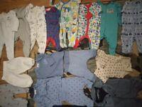 0-3 baby boy clothes bundle.
