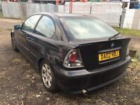 BMW compact black 2.0 petrol manual breaking for parts /// spares