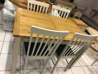 Dining table and chaors