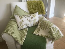 Cushions and throw