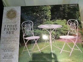 vintage 3 piece patio set £95