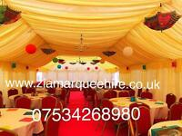 Zia marquee hire , wedding stage , house lighting, chair hire , tent hire ,