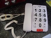 CORDED LARGE BUTTON TELEPHONE