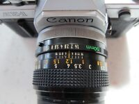 Canon AE-1 SLR with Canon FD 50mm f1.4 SSC. lens