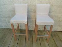 IKEA Bar stools with backrest HENRIKSDAL (RRP £130, £65 each)