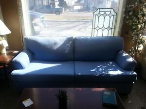 Periwinkle Blue Sofa